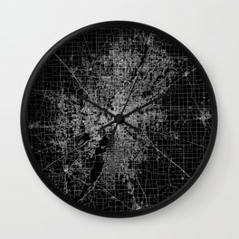 Indianapolis map Wall Clock