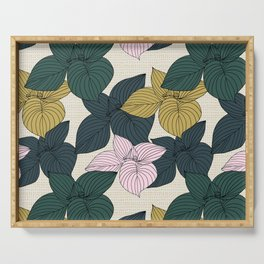 Jungle Summer Floral and Texture Serving Tray