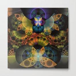 Autumn Butterfly Nexus of Amazing Fractal Colors Metal Print