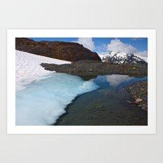 Ice Lake Art Print