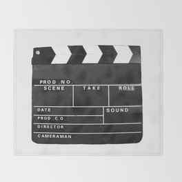 Film Movie Video production Clapper board Throw Blanket