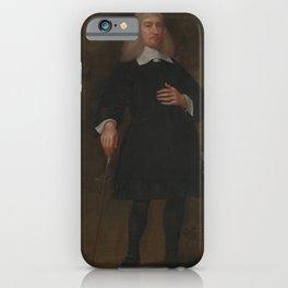 Abraham Staphorst - Colonel Alexander Popham, of Littlecote, Wiltshire (1660) iPhone Case