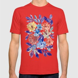 hand painted flowers_3c T-shirt
