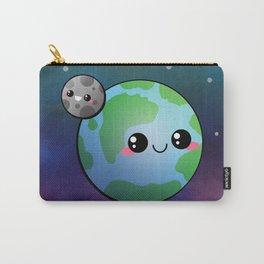 Kawaii Earth & Moon Carry-All Pouch