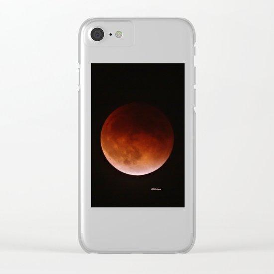 Blood Moon through Southern California Haze Clear iPhone Case