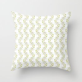 Background abstract flowers, pattern, vector, texture design. Throw Pillow