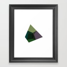 #136 Tesseract (projected into 3D space) – Geometry Daily Framed Art Print