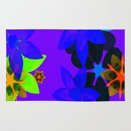 Retro 60's Flower Power Art Rug