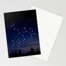 I love You Stars Design Stationery Cards