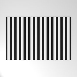 Stripe Black And White Vertical Line Bold Minimalism Stripes Lines Welcome Mat