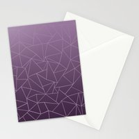 Ombre Ab Plum Stationery Cards