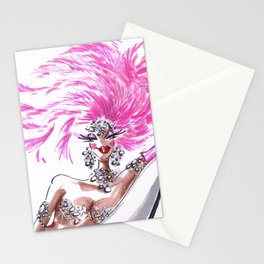 Oops Showgirl Stationery Cards