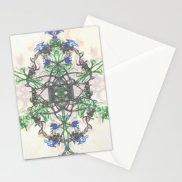 Spiraling Leafs Stationery Cards