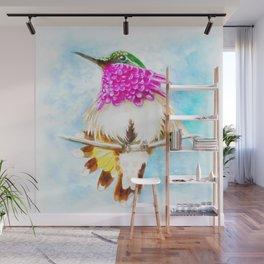 Hummingbird Inky Wall Mural