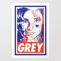 sasha grey Art Prints featuring Sasha Has A Posse by Nicolas Cours-Barracq