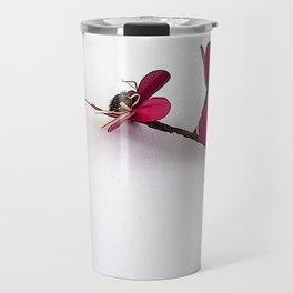 Dainty Red Single Stem Travel Mug