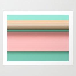 Floating Paper Paper Art Print