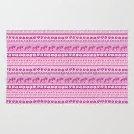 Moose Pink Pattern Rug