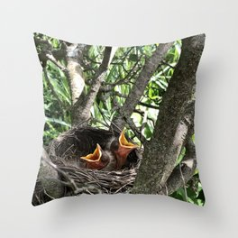 Sing a New Song #nature #robins Throw Pillow