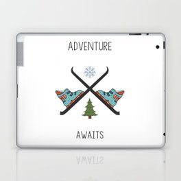 Adventure Awaits - Ski Laptop & iPad Skin