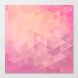 Geometric Pink  Canvas Print