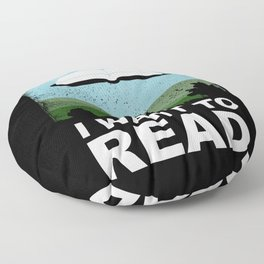 I Want to Read Floor Pillow