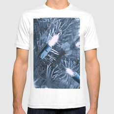BLUE SPRUCE Mens Fitted Tee MEDIUM White