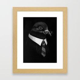 Business Pigeon Framed Art Print