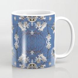 Star-filled sky (Star Magnolia flowers!) - diamond repeating pattern Coffee Mug