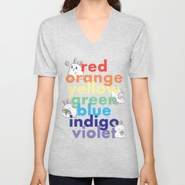 Colors of the rainbow Unisex V-Neck