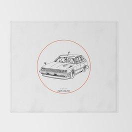 Crazy Car Art 0213 Throw Blanket