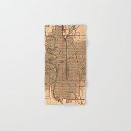 Vintage Map of Wichita Kansas (1943) Hand & Bath Towel