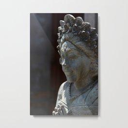 Bali Stone Scupture Metal Print