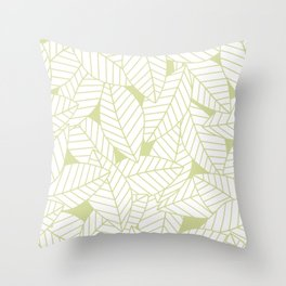 Leaves in Fern Throw Pillow