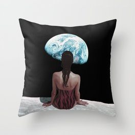The strange feeling of being an outsider Throw Pillow