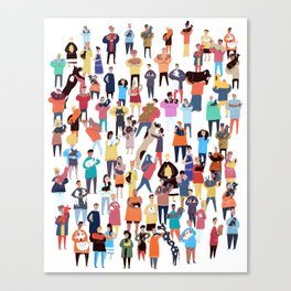 People and their dogs Canvas Print