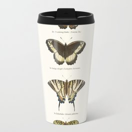 Vintage Butterfly Chart Travel Mug