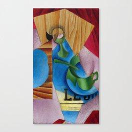 "Juan Gris ""Verre, Tasse, Et Journal (Glass, Cup, And Journal)"" Canvas Print"