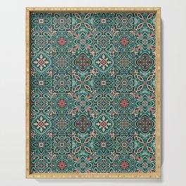 Peranakan Art Nouveau Tiles (Mixed Patterns in Peach Garden) Serving Tray