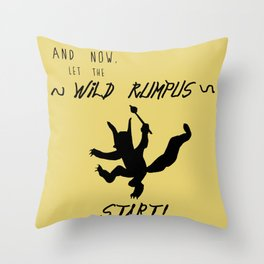 Wild Rumpus (Yellow) Throw Pillow