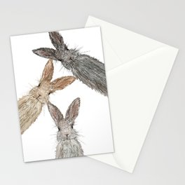 Triple Bunnies Stationery Cards