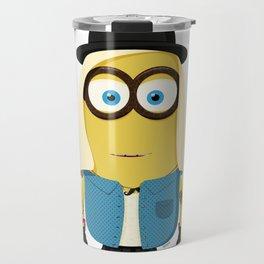Hipster Girl Minion Travel Mug