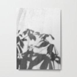 Shadows in curtain Metal Print
