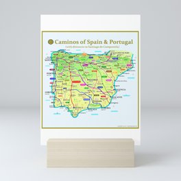 Caminos of Spain and Portugal Mini Art Print