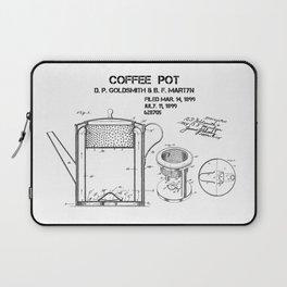 Coffee pot Goldsmith Martyn patent art 1899 Laptop Sleeve