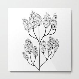 Leaf-like Sumac Metal Print