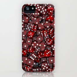 Red dice iPhone Case