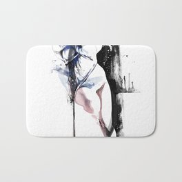 Shibari - Japanese BDSM Art Painting #4 Bath Mat