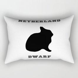 Netherland Dwarf Print Rectangular Pillow