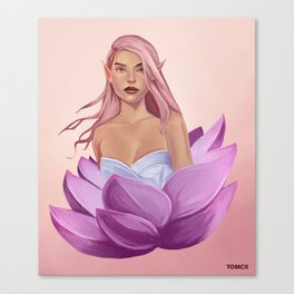 Lotus Flower Elf Canvas Print